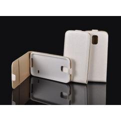 Huawei P8 Lite, Lefele nyíló flip tok, fehér
