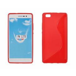 Huawei P8 Lite, Szilikon tok, S-Case, piros