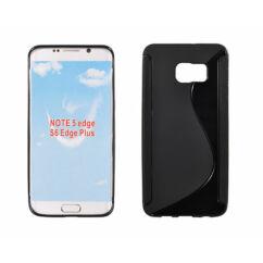 Samsung G928 Galaxy S6 Edge+/Note 5 Ed, Szilikon tok, S-Case, fekete