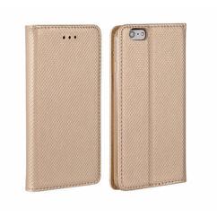 Apple iPhone 6/6S, Oldalra nyíló flip tok, Smart, arany