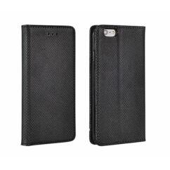Huawei P8 Lite, Oldalra nyíló flip tok, Smart, fekete
