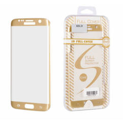Samsung G935 Galaxy S7 Edge, Kijelzővédő fólia (ütésálló), arany