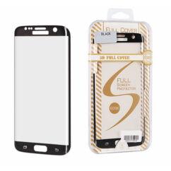 Samsung G935 Galaxy S7 Edge, Kijelzővédő fólia (ütésálló), fekete