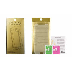 Apple iPhone 7 Plus/8 Plus, Kijelzővédő fólia (ütésálló) Glass-Gold