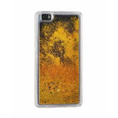 Szilikon tok, Samsung J320 Galaxy J3 2016, Liquid (Csillámos), arany