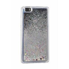 Szilikon tok, Samsung G960 Galaxy S9, Liquid (Csillámos) - ezüst