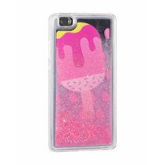 Szilikon tok, Apple iPhone 7, 8, Liquid (Csillámos) - Ice Cream