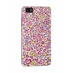 Szilikon tok, Apple iPhone 5, 5S, 3D - Szives - rózsaszín