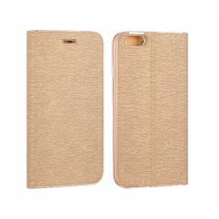 Oldalra nyíló flip tok, Apple iPhone 7, 8, Vennus, arany
