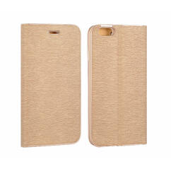 Oldalra nyíló flip tok, Samsung G930 Galaxy S7, Vennus - arany
