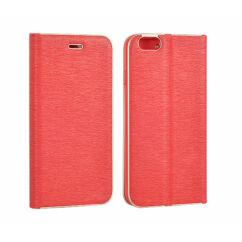 Samsung G930 Galaxy S7, Oldalra nyíló flip tok, Vennus, piros