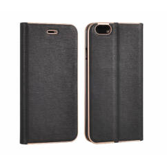 Samsung G935 Galaxy S7 Edge, Oldalra nyíló flip tok, Vennus, fekete