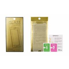 Samsung J327P/J330 Galaxy J3 2017, Kijelzővédő fólia (ütésálló) Glass-Gold