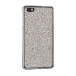 Samsung A320 Galaxy A3 2017, Szilikon tok, Electro (Csillámos), ezüst