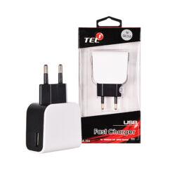 Hálózati töltő, USB 2500mAh 3.0, fekete