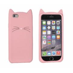 Szilikon tok, Samsung A500 Galaxy A5, 3D Cat - rózsaszín
