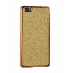 Samsung G955 Galaxy S8 Plus, Szilikon tok, Electro (Csillámos), arany