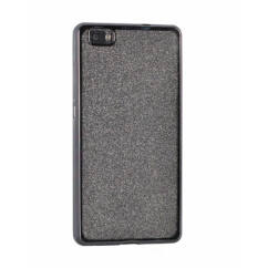 Samsung G955 Galaxy S8 Plus, Szilikon tok, Electro (Csillámos), titán
