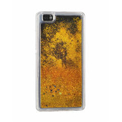 Szilikon tok, Huawei P10 Lite, Liquid (Csillámos), arany