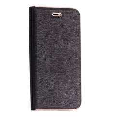 Oldalra nyíló flip tok, Samsung J710 Galaxy J7 2016, Vennus - fekete