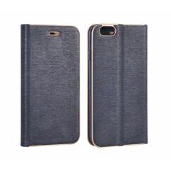 Oldalra nyíló flip tok, Apple iPhone X, Vennus - kék