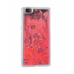 Szilikon tok, Apple iPhone X, Liquid (Csillámos) - piros