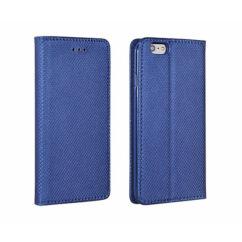 Oldalra nyíló flip tok, Samsung A530 Galaxy A5 2018, A8 2018, Smart - kék
