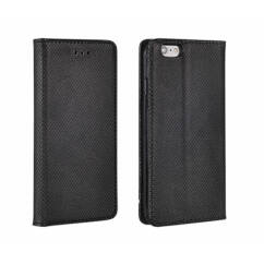 Samsung G960 Galaxy S9, Oldalra nyíló flip tok, Smart, fekete