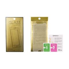 Samsung J600 Galaxy J6 2018, Kijelzővédő fólia (ütésálló) Glass-Gold