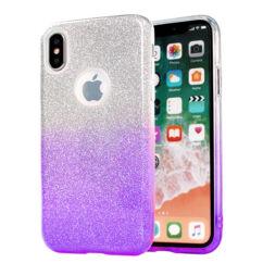 Apple iPhone 7/8/SE 2020, Szilikon tok, Bling (Csillámos), lila