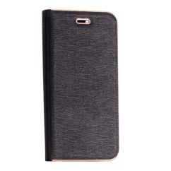 Oldalra nyíló flip tok, Samsung J600 Galaxy J6 2018, Vennus - fekete