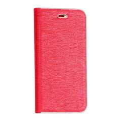 Oldalra nyíló flip tok, Samsung J600 Galaxy J6 2018, Vennus - piros