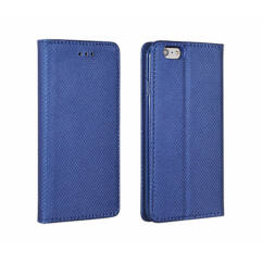 Huawei Mate 20 Lite, Oldalra nyíló flip tok, Smart, kék
