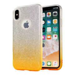 Huawei Mate 20 Lite, Szilikon tok, Bling (Csillámos), arany