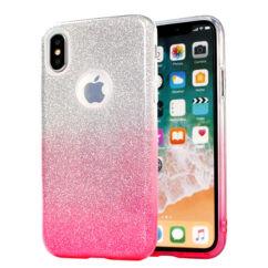Samsung A920 Galaxy A9 2018, Szilikon tok, Bling (Csillámos), rózsaszín