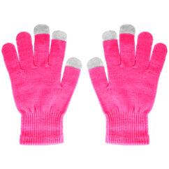 Érintő kesztyű, rózsaszín