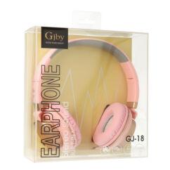Gjby Extra Bass GJ-18, Fejhallgató, rózsaszín