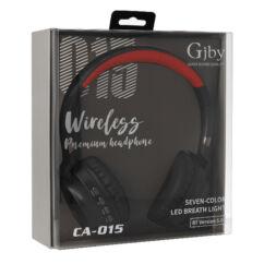 Gjby Bluetooth CA-015, Fejhallgató, fekete-piros