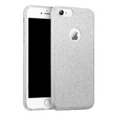 Apple iPhone 6/6S, Szilikon tok, Shining (Csillámos), ezüst