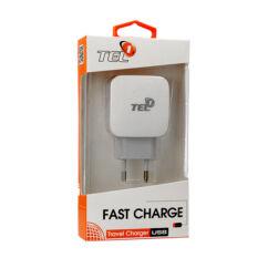 Hálózati Töltő, USB Tel1 Quick 1,5-3A, fekete