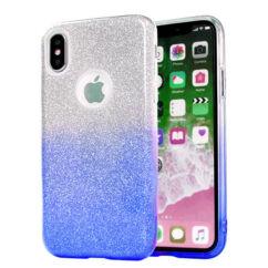 Szilikon tok, Apple iPhone XR, Bling (Csillámos), kék