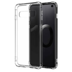 Samsung A405 Galaxy A40, Szilikon tok, Ütésálló (0.5mm), átlátszó