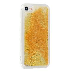 Szilikon tok, Samsung A405 Galaxy A40, Liquid (Csillámos), arany