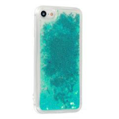 Szilikon tok, Samsung A202 Galaxy A20E, Liquid (Csillámos), kék