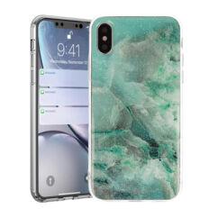 Apple iPhone 11 Pro Max, Szilikon tok, Marble Stone, 3