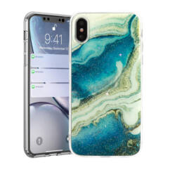 Apple iPhone 11 Pro Max, Szilikon tok, Marble Stone, 6