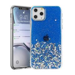 Apple iPhone 11 Pro Max, Szilikon tok, Brilliant (Csillámos), kék