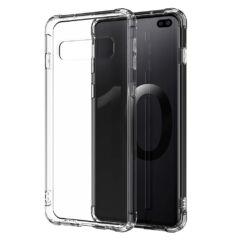 Samsung A715 Galaxy A71, Szilikon tok, Ütésálló (0.5mm), átlátszó