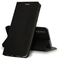 Samsung A405 Galaxy A40, Oldalra nyíló flip tok, Vennus Sensitive, fekete