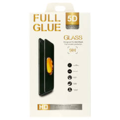 Huawei P40, Kijelzővédő fólia, (ütésálló) Full Glue 5D, fekete